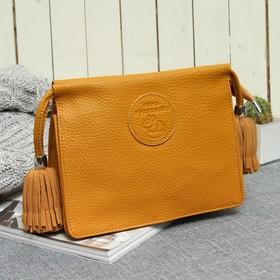 Косметичка-сумочка, отдел на молнии, цвет жёлтый Ош