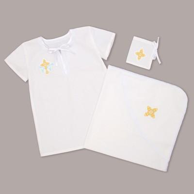 Набор крестильный для мальчика (рубашка, пелёнка, мешок), рост 86-92 (28), 1,5-2 года, бязь   289910