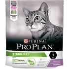 Сухой корм PRO PLAN для стерилизованных кошек, индейка  400 г