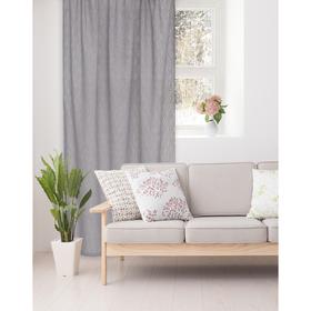Штора портьерная Этель «Плавные ромбы» 135х270 см, цвет серый