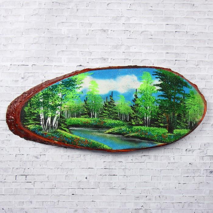 """Панно на спиле """"Лето"""", 60 см, каменная крошка, горизонтальное"""