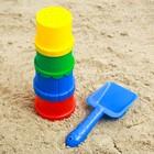 Набор для игры в песке №11, 4 формочки + лопатка