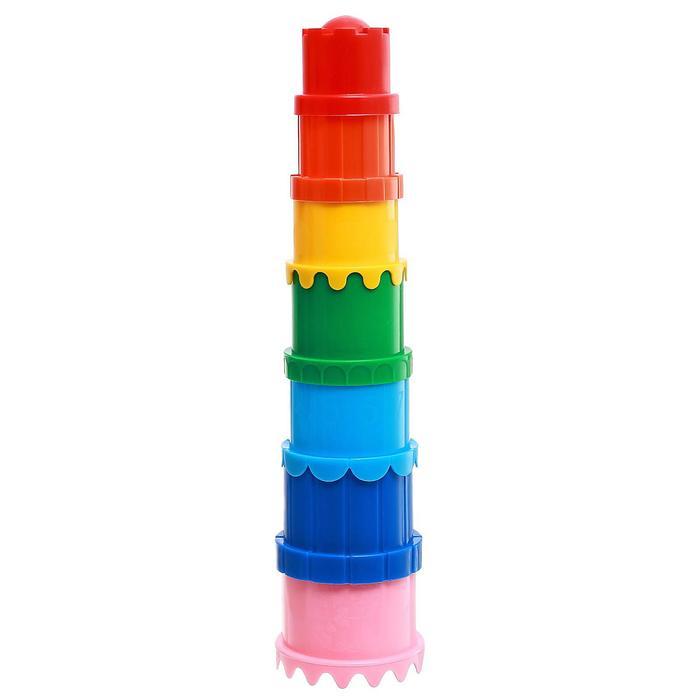 Наборы для игры в песке пирамидка №71, цвета МИКС - фото 302404612