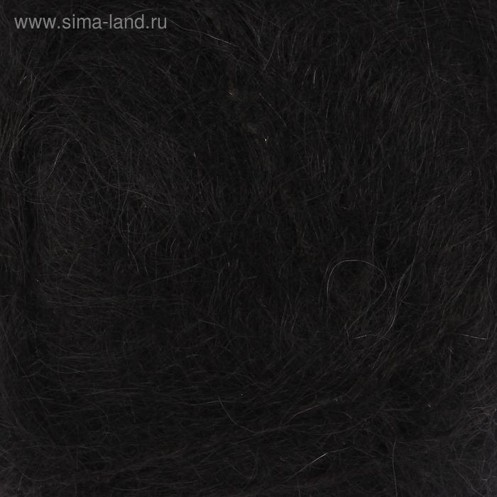 """Пряжа """"Mohair classik"""" 70% мохер, 30% акрил 220м/100гр (102 черный)"""