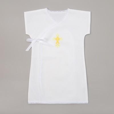 Крестильная рубашка для мальчика, рост 86-92 (28), 1,5-2 года,100% хлопок, бязь