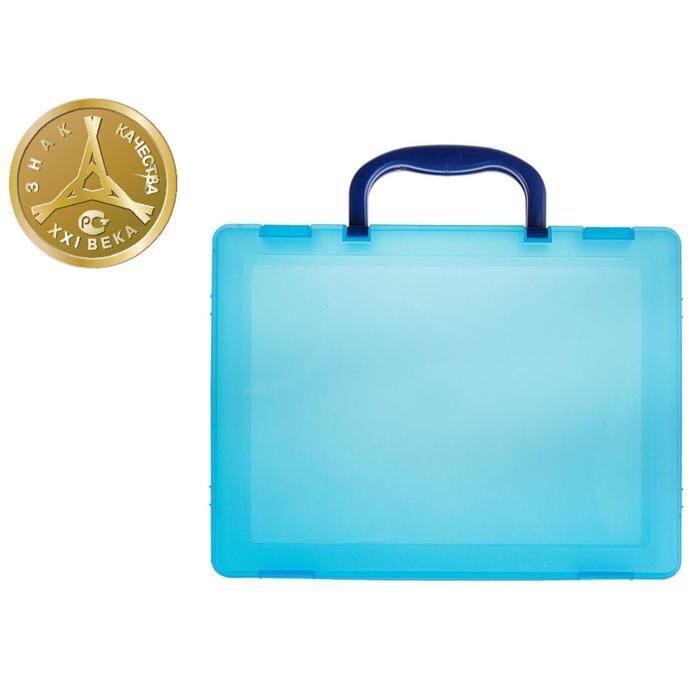 Портфель-кейс А4, тонированный голубой - фото 440949834