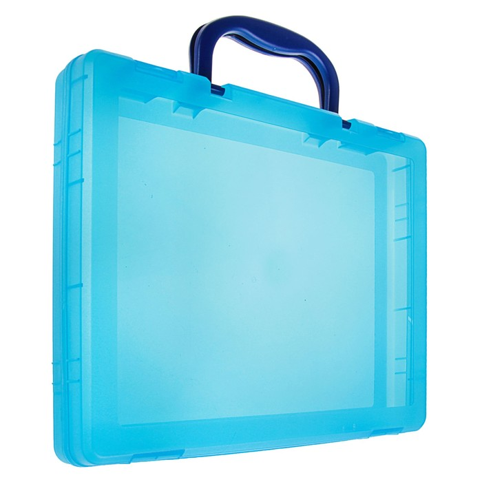 Портфель-кейс А4, тонированный голубой - фото 440949835