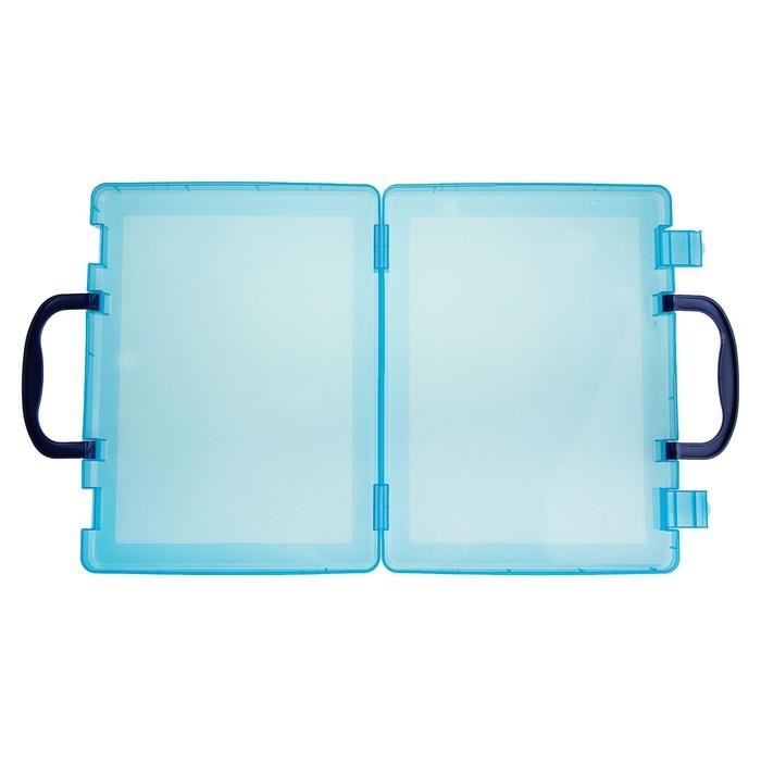 Портфель-кейс А4, тонированный голубой - фото 440949836
