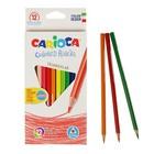 Карандаши 12 цветов Carioca 42515 3.5 мм трехгранные, картонная коробка