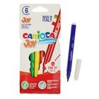 Фломастеры 6 цветов Carioca Joy 2.6мм, картонный конверт 40549/6