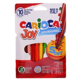 """Фломастеры 10 цветов Carioca """"Joy"""" 2.6 мм, смываемые, картон, европодвес"""