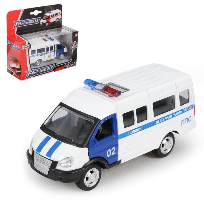 Машина металлическая «Микроавтобус Полиция», масштаб 1:50, инерция
