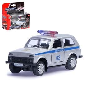 """Машина металлическая """"Джип Полиция"""", масштаб 1:50, инерция"""