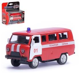 """Машина металлическая """"Пожарная служба"""", масштаб 1:50, инерция"""
