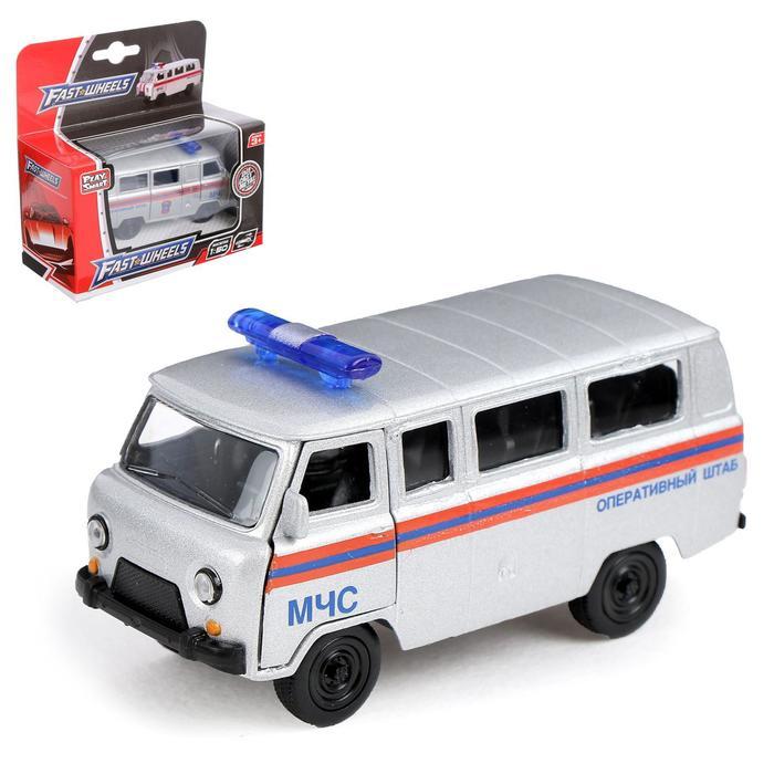Машина металлическая «Микроавтобус МЧС», масштаб 1:50, инерция