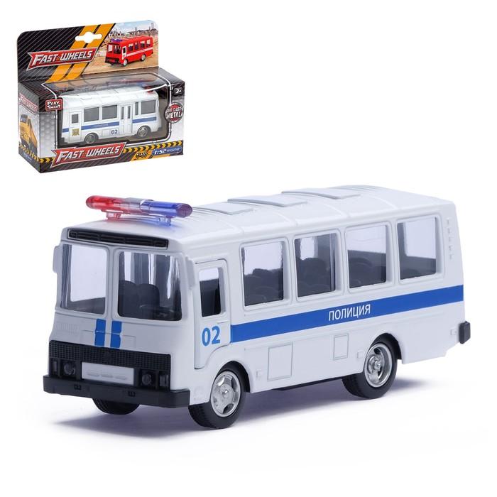 Автобус металлический «Полиция», инерционный, масштаб 1:61