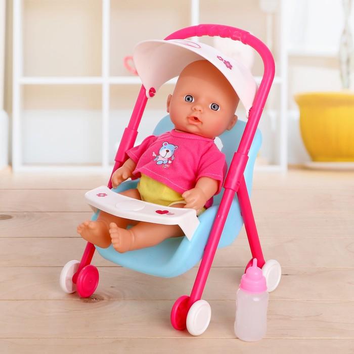 Пупс «Мой малыш» с коляской, звуковые функции, пьёт, писает