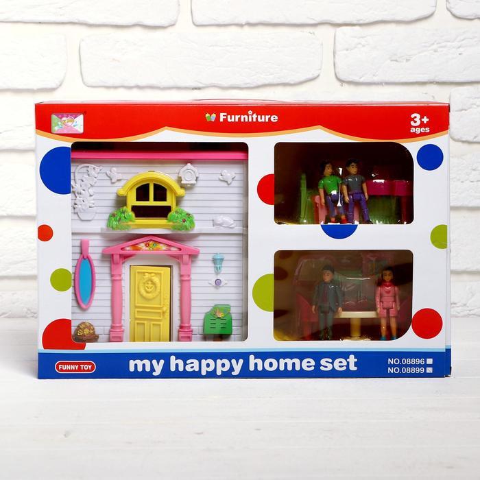 """Дом для кукол """"Летний день"""" с доской для рисования и аксессуарами, звуковые эффекты, МИКС"""