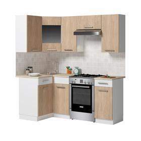 Кухонный гарнитур Алиса угловой 2000х1100 Белый/дуб сонома