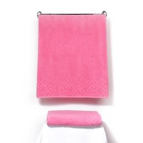 Полотенце махровое «Poseidon» 100х150, цвет розовый