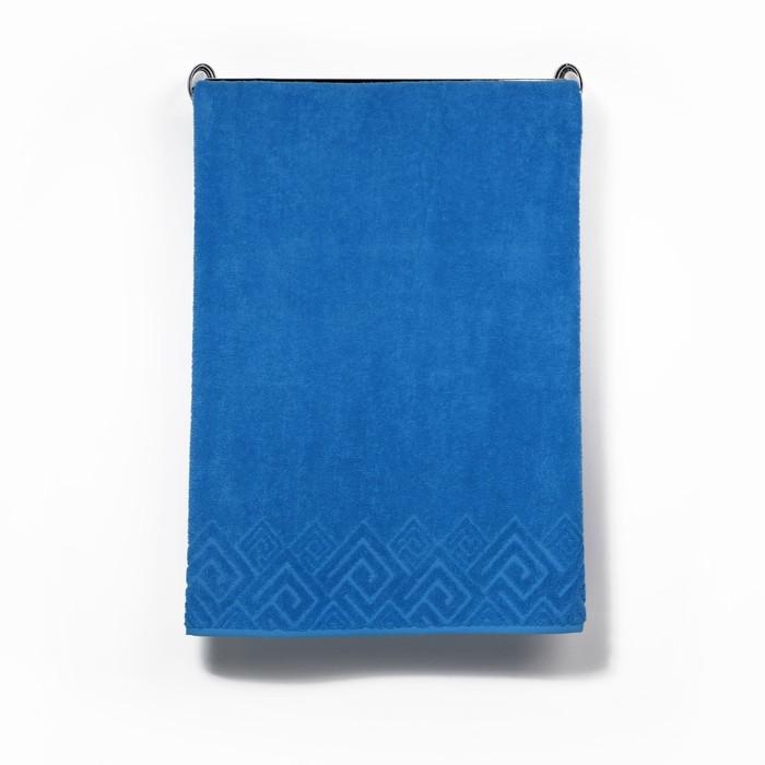 Полотенце махровое «Poseidon» 100х150, цвет голубой