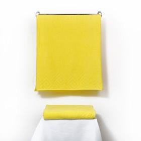 Полотенце махровое «Poseidon», 70х130, цвет жёлтый