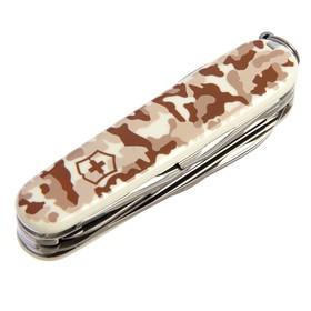 Нож перочинный VICTORINOX Huntsman Desert Camouflage 1.3713.941, 91 мм, 15 функций