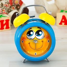 """Часы будильник """"Смайлик"""", d=8 см"""