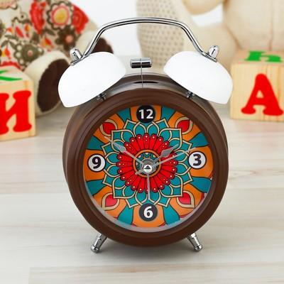 """Часы будильник """"Узоры"""", d=8 см"""