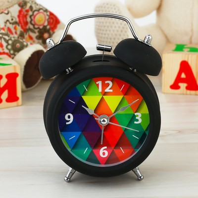 """Часы будильник """"Абстракция"""", d=8 см"""
