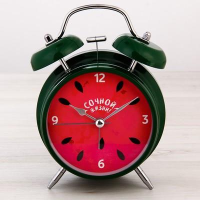 """Часы будильник """"Сочной жизни"""", d=11 см"""