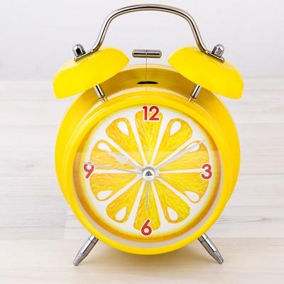"""Часы будильник """"Лимон"""", d=11 см"""