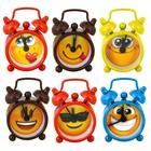 """Alarm clock """"Smiley"""", a MIX of 6 types, Ø 4.5 cm"""