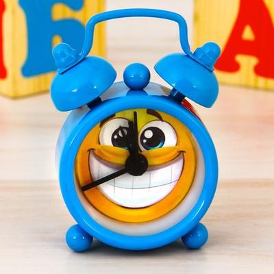 """Часы будильник """"Смайл"""", d=4 см"""