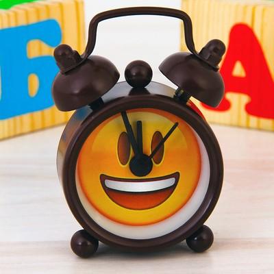 """Часы будильник """"Смайлик"""", d=4 см"""