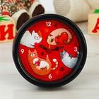 """Часы будильник """"Коты"""", 10 см"""