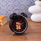 """Alarm clock """"I Love you"""", black, backlit, 17х11 cm"""