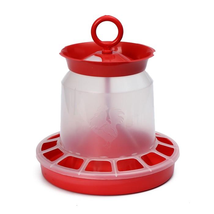 Кормушка бункерная для домашней птицы на 5 кг, цвет МИКС