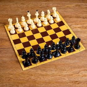 """Шахматы """"Русские игры"""" (доска из микрогофры 40х40 см, фигуры пластик, король h=10.2 см)"""