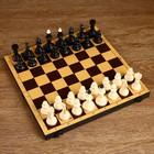 """Настольная игра 2 в 1 """"Семейная"""": шахматы обиходные, шашки (доска дерево 30х30 см)"""
