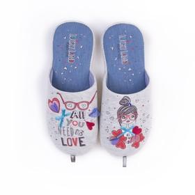 Обувь домашняя  женская 2610W-ASC-W (серый) (р. 37)