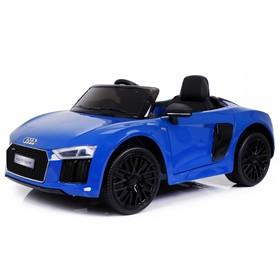 Электромобиль AUDI R8 Spyder, окраска глянец синий, EVA колеса, кожаное сидение