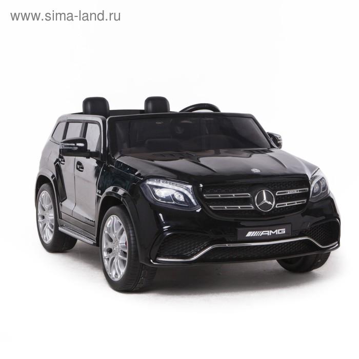 Электромобиль MERCEDES-BENZ GLS AMG, 4WD полный привод, EVA колёса, цвет чёрный глянец