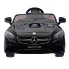 Электромобиль MERCEDES-BENZ S63 AMG, цвет чёрный, EVA колёса, кожаное сидение - фото 105642120