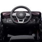 Электромобиль MERCEDES-BENZ S63 AMG, цвет чёрный, EVA колёса, кожаное сидение - фото 105642122