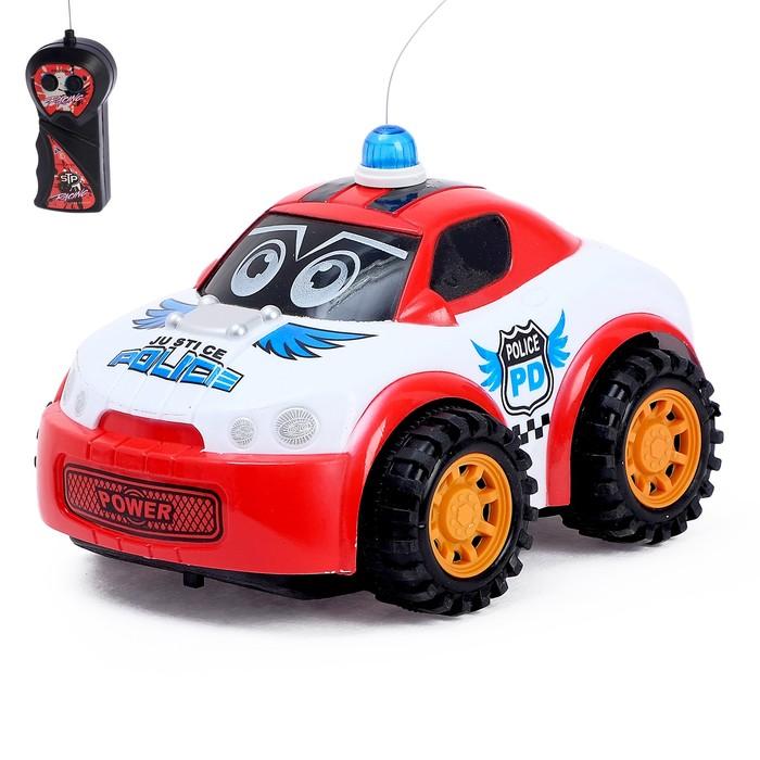 """Машина радиоуправляемая """"Полицейский патруль"""", работает от батареек, свет и звук"""