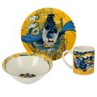 "Набор посуды ""Бэтмен"", 3 предмета: кружка 220 мл, тарелка 19 см, салатник 520 мл 17,5 см"