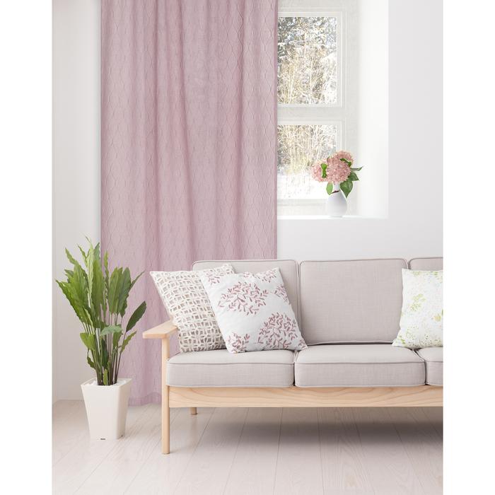 Штора портьерная Этель «Плавные ромбы» 135х270 см, цвет розовый