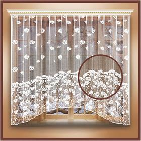 Штора тюль на  шторной ленте 260х160 см, цв.белый, 100% п/э арт.10с6380-Г50