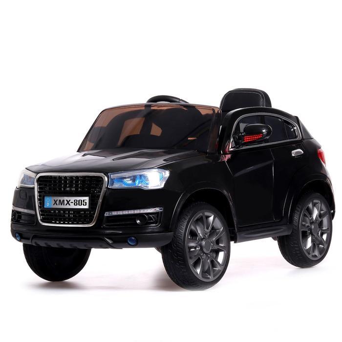 Электромобиль «Кроссовер», 2 мотора, EVA колёса, кожаное сидение, цвет чёрный